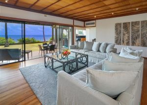 Interior shot of Pacific House, one of our luxurious South Shore Oahu rentals near the Honolulu Museum of Art