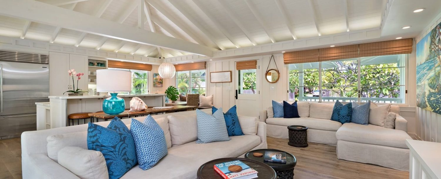 Plumeria Hale at Lanikai is yet another reason to book your stay with luxurious finishes and high-end furnishings which makes it a great answer to the question: where to stay on Oahu!