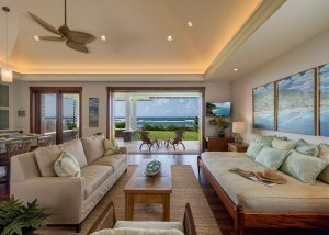 interior shot of BFF House; Whale Watching on Oahu