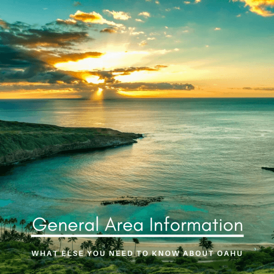 General area information of Oahu