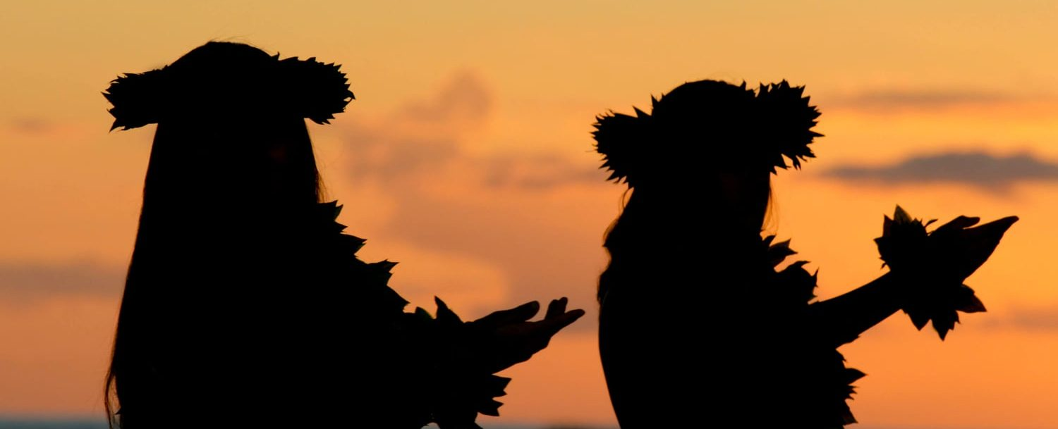 Hula Dancing at Sunset Beach on Oahu