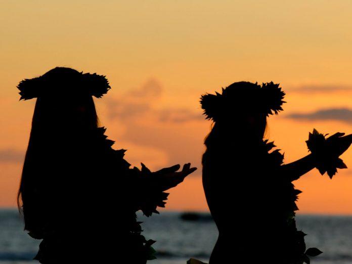 Hula Dancing at Sunset Beach on Oahu
